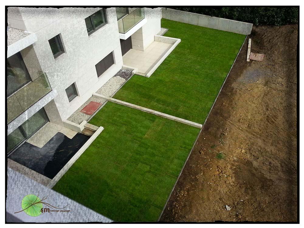 Réalisation de terrasses vertes pour le compte de WUST S.A.