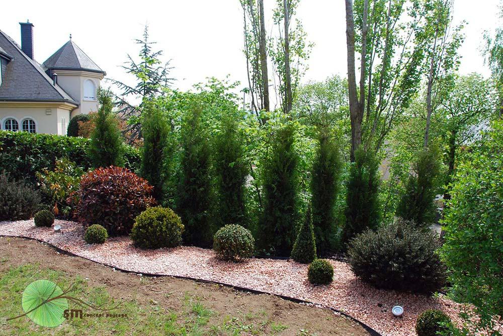 Aménagement des alentours du jardin.